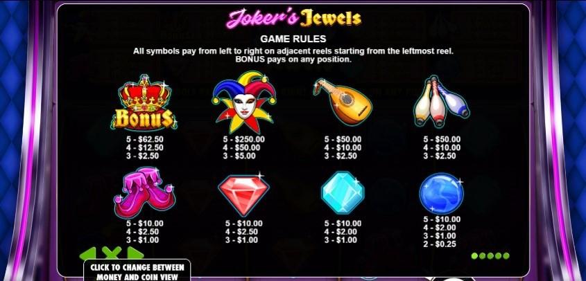 slotxo-joker's jewels-โบนัส